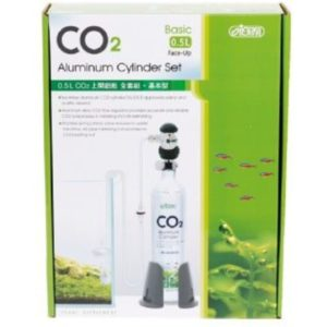 ISTA 0.5 Litre CO2 Aluminum Cylinder Set Face up Basic IndieFur.com