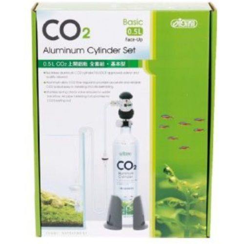 ISTA 0.5 Litre CO2 Aluminum Cylinder Set Face up Basic IndieFur.com