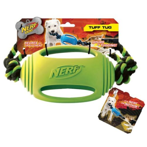 Nerf Dog Rubber Tough Tug (Green) 1