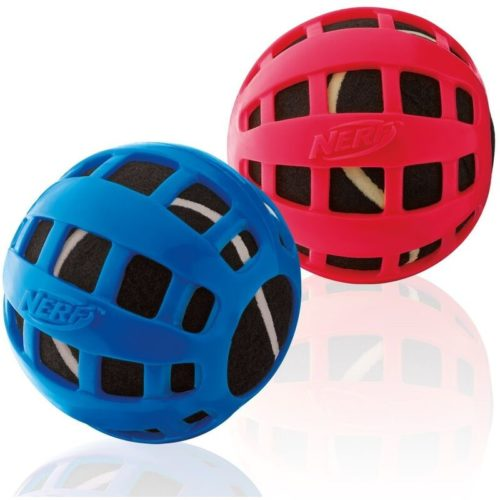 Nerf Dog Squeak Checker Ball 2.5-inch 1