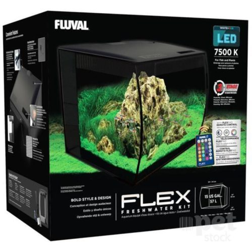 Fluval Flex Black 57 L (15 Gal) Indiefur.com