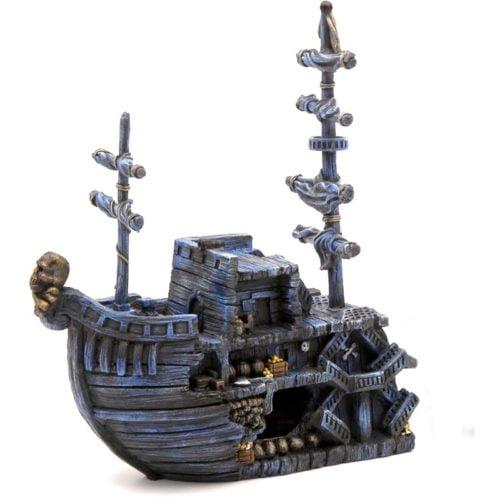 Penn-Plax Deco-Replicas Pirate Treasure Ship Bow Indiefur.com