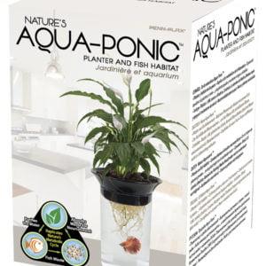 Penn-Plax Nature's Aqua-Ponic Planter and Fish Habitat Indiefur.com