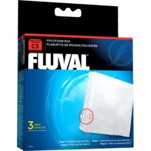 Fluval C3 Poly Foam Pad – 3 Pcs Indiefur.com